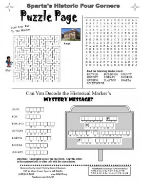 Four corners arch fun worksheet general visitors non school for website