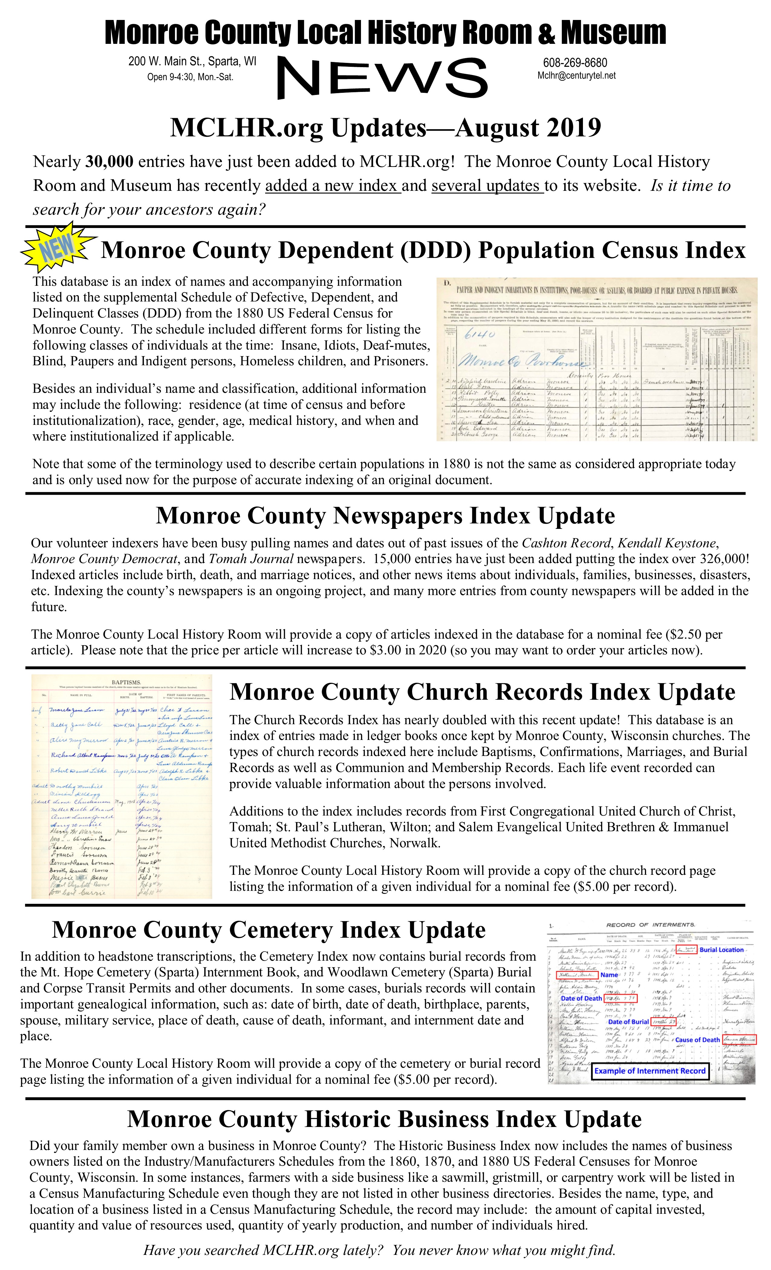 Monroe County Local History Museum: The best website to